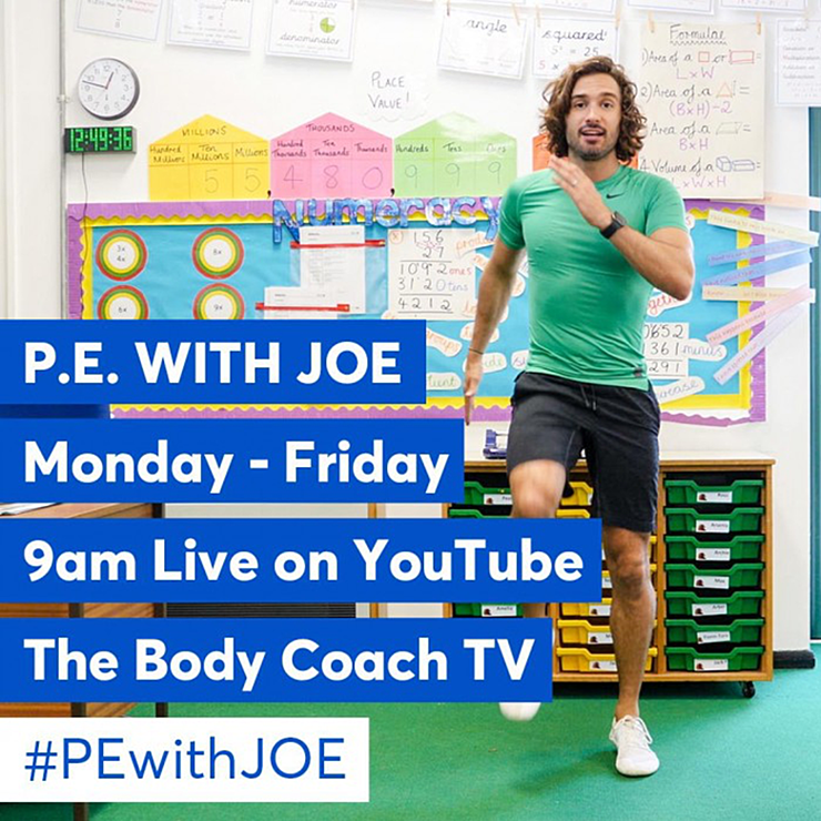 P.E. with Joe Wicks Monday - Friday 9am live on YouTube