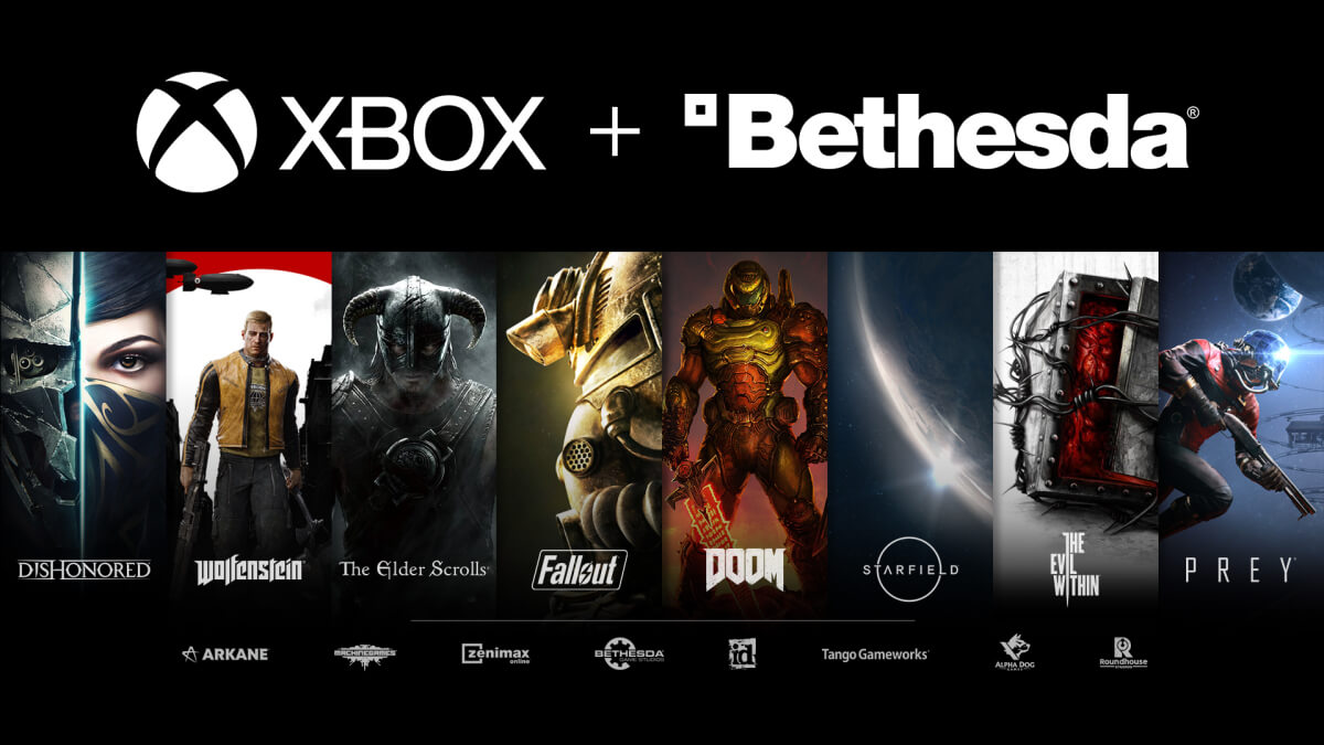 Bethesda IP along side Xbox Logo
