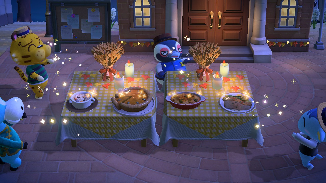 Emmas Animal Crossing Island on Turkey Day
