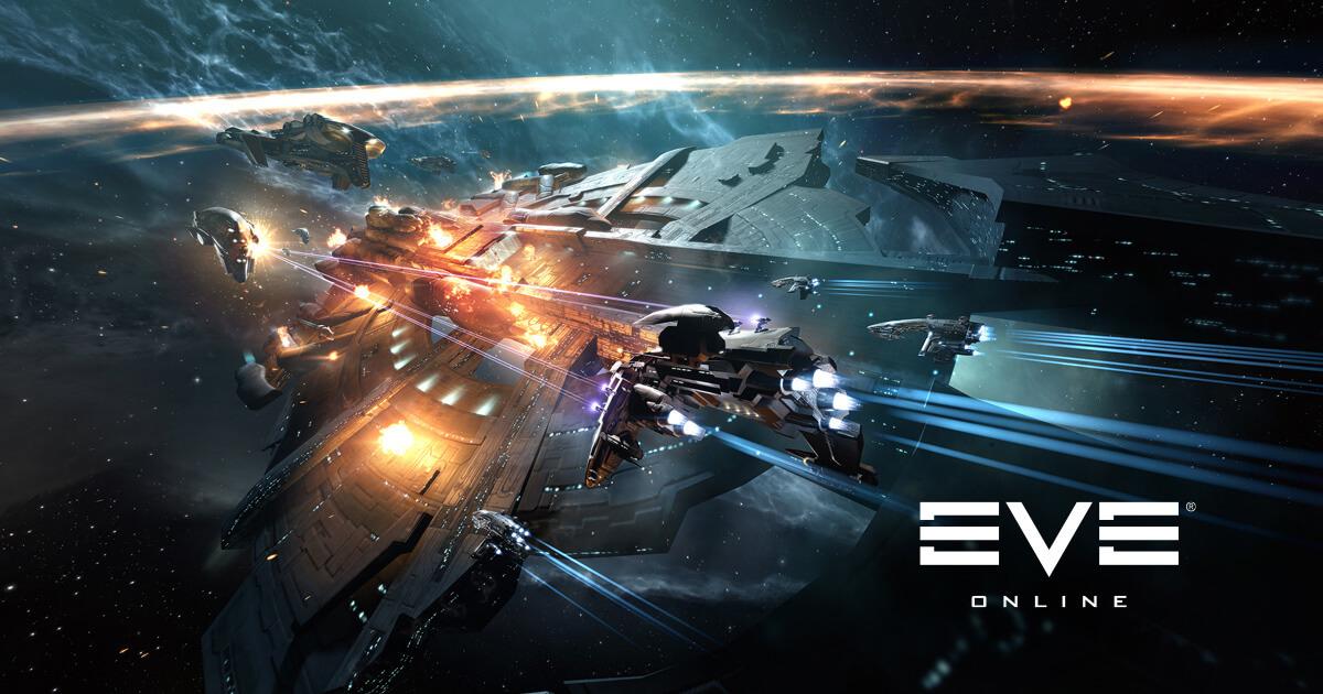 EVE Online key art spaceships