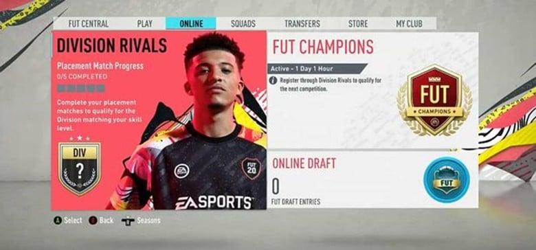 A screenshot from FIFA 2020