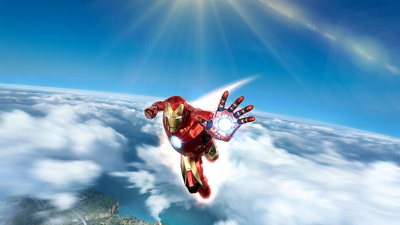 A promotional image for Iron Man VR