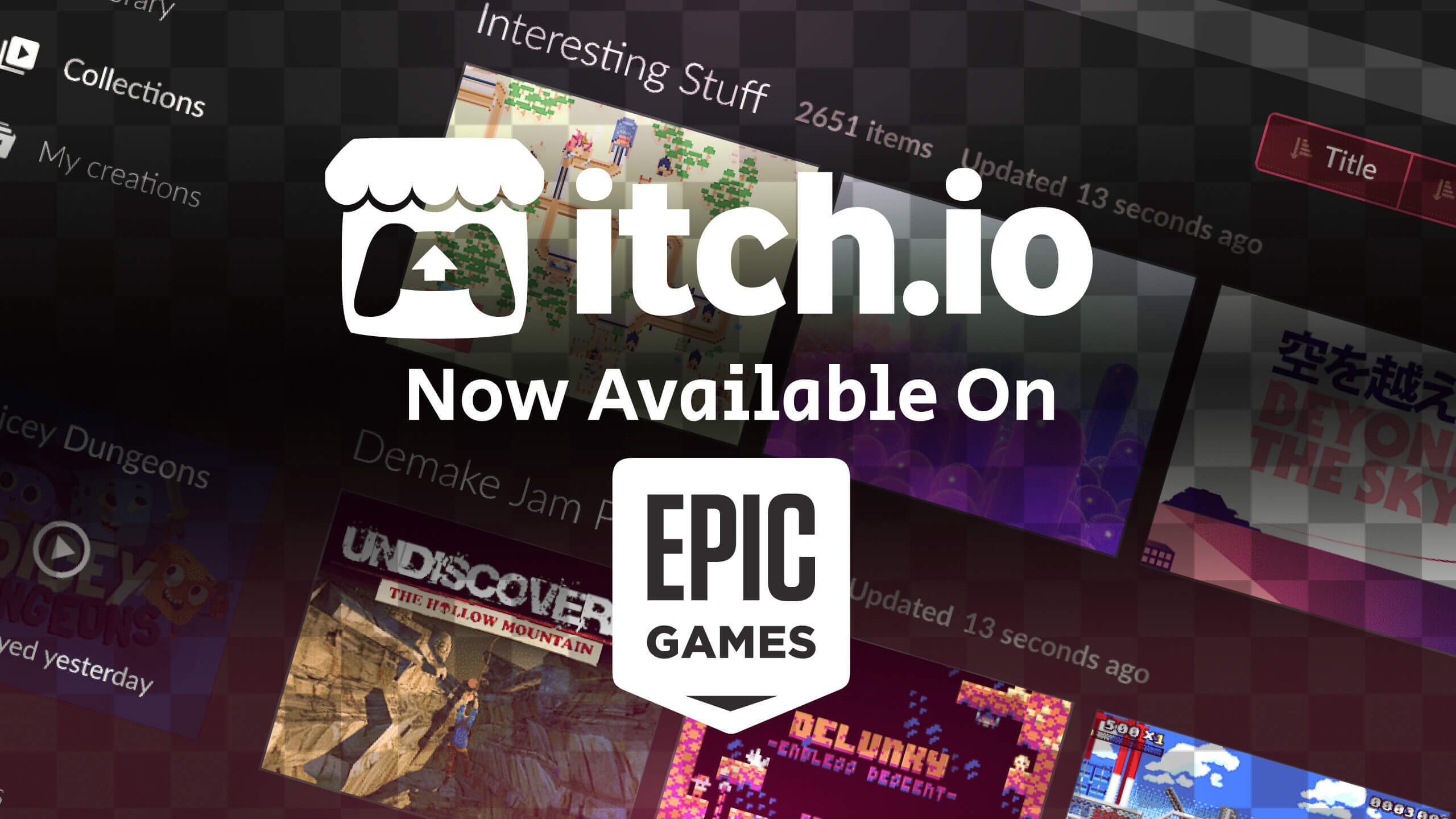 itch.io available on epic games store