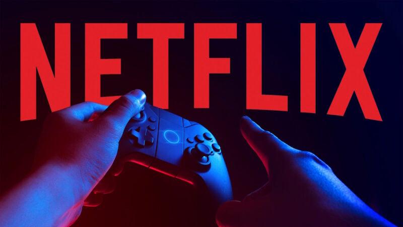 netflix logo alongside a game controller
