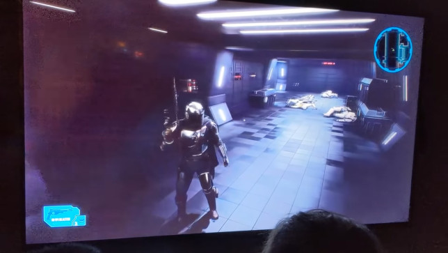 photo of alleged footage from Mandalorian game