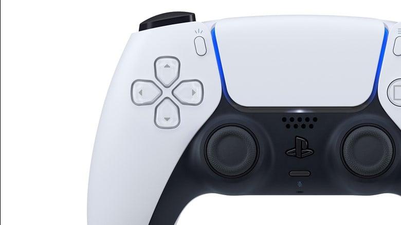 A photograph of a PS5 controller