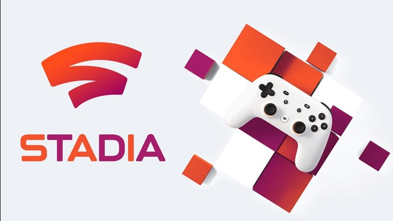 The logo and controller for Google Stadia