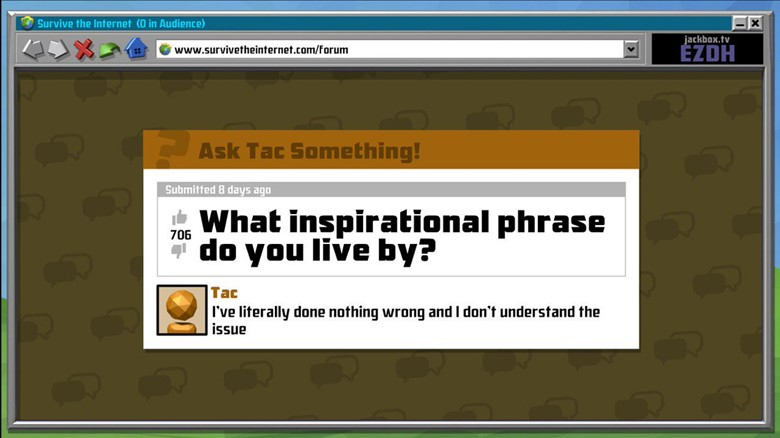 A screenshot from Survive The Internet