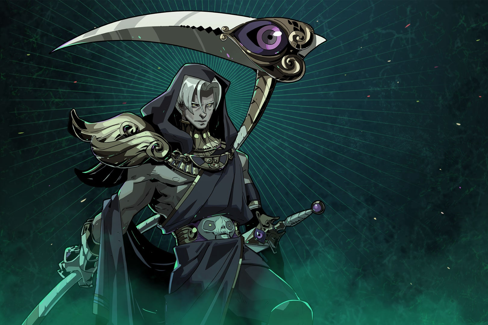 An image of Thanatos, from the game Hades