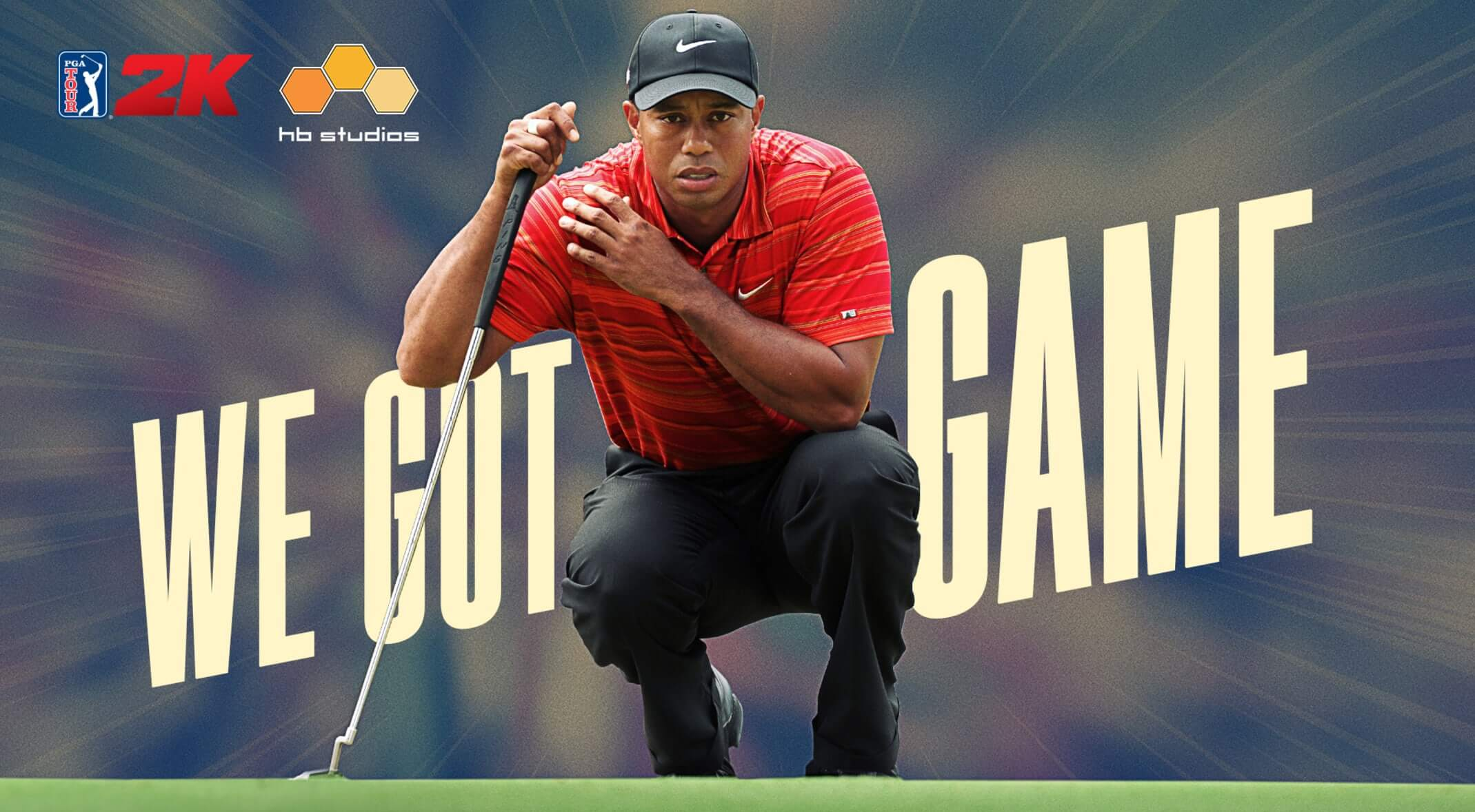 Promotional shot of Tiger Woods for new deal with 2K