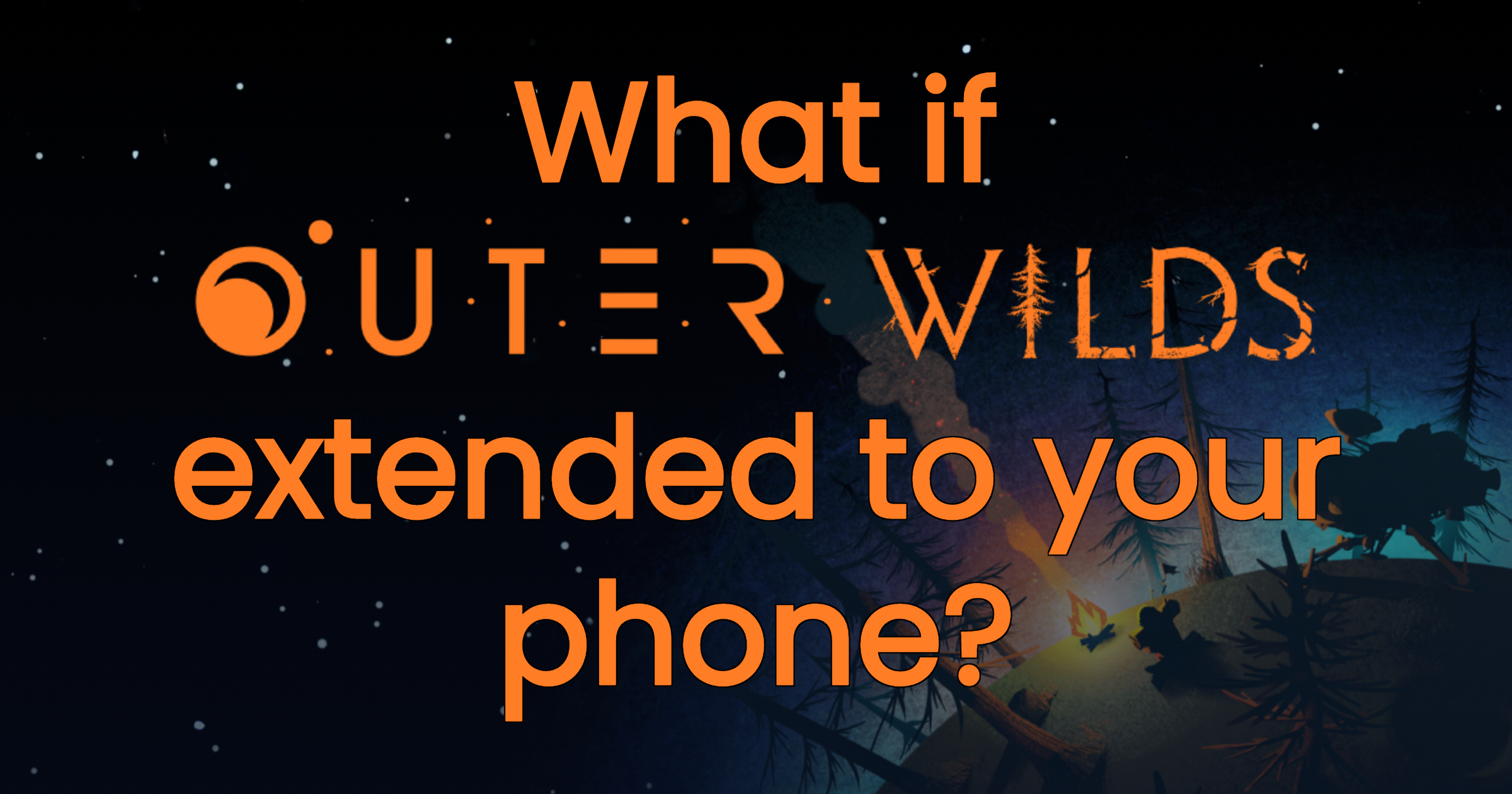 """Promotional image for """"What if?"""" Outer Wilds"""