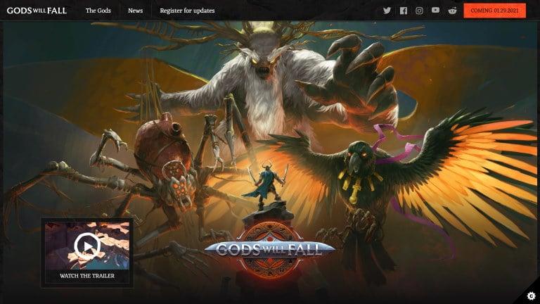 Gods Will Fall website