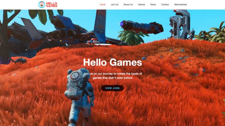 Hello Games website