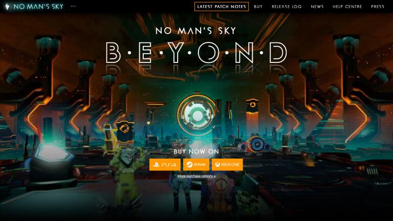 No Man's Sky website