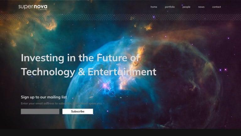 Supernova Capital website