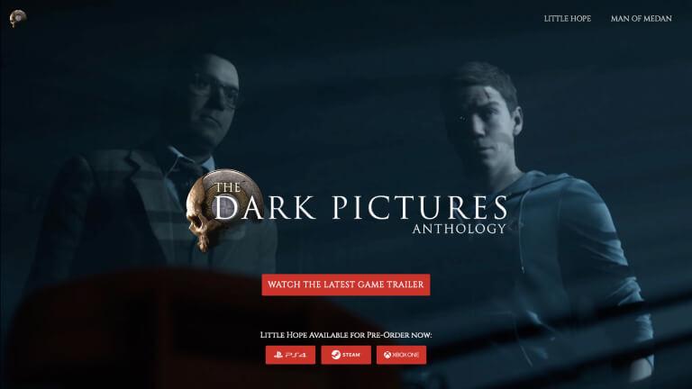 The Dark Pictures website