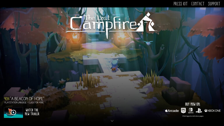 The Last Campfire website