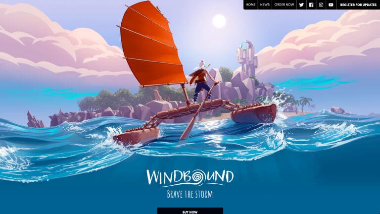 Windbound website