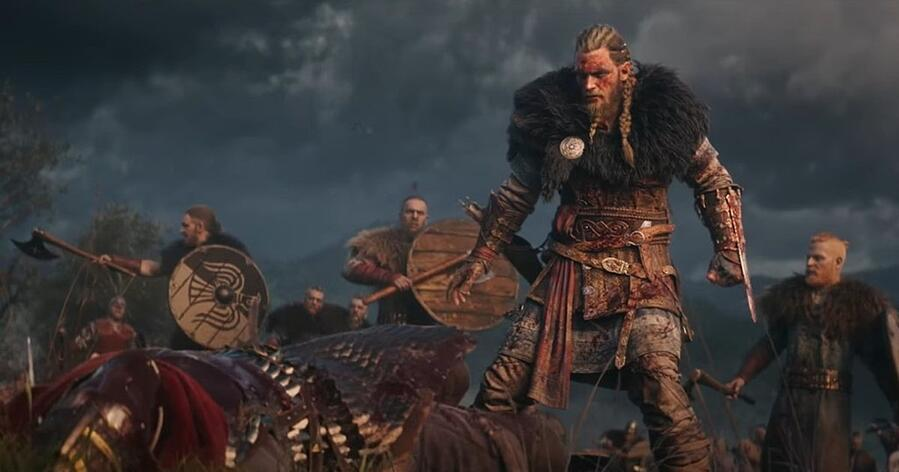 A promotional image for Assassin's Creed: Valhalla