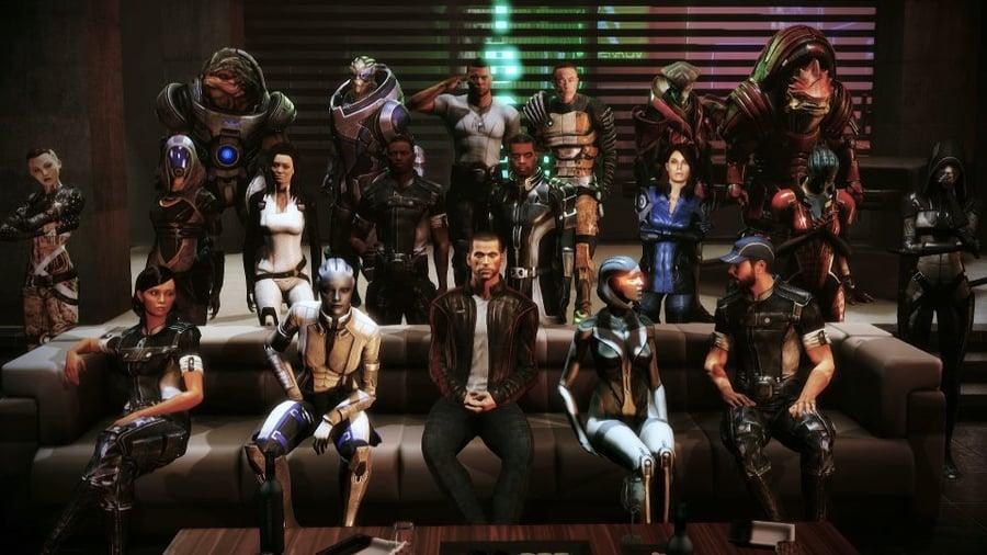 The cast of Mass Effect 2