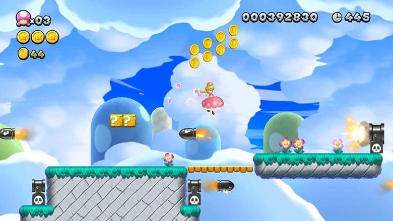 screenshot of new super mario bros. u