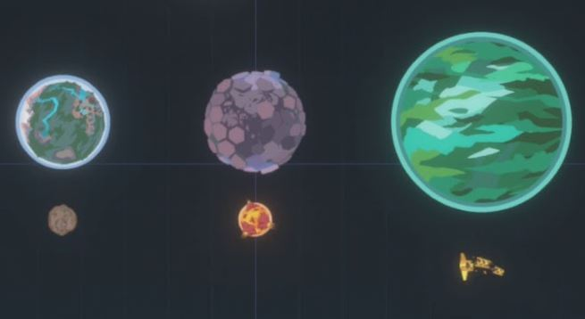 A screenshot of the Outer Wilds Ship Log map mode