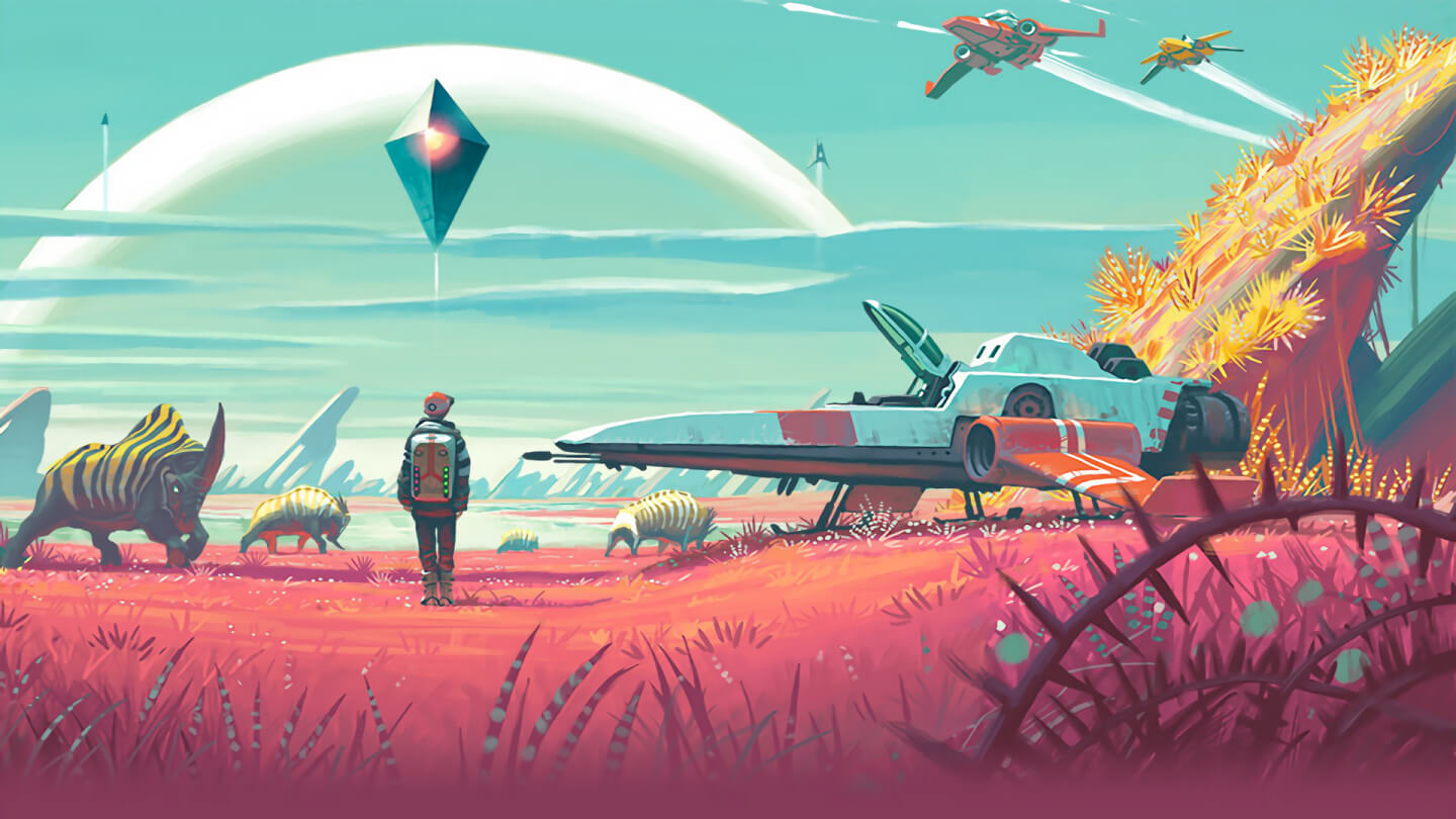 Promotional image for No Man's Sky